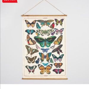 Butterfly linen wall hanging! Brand new in box!